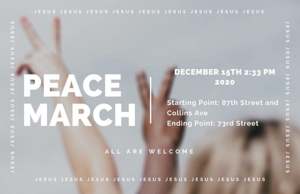 Miami Beach Peace March