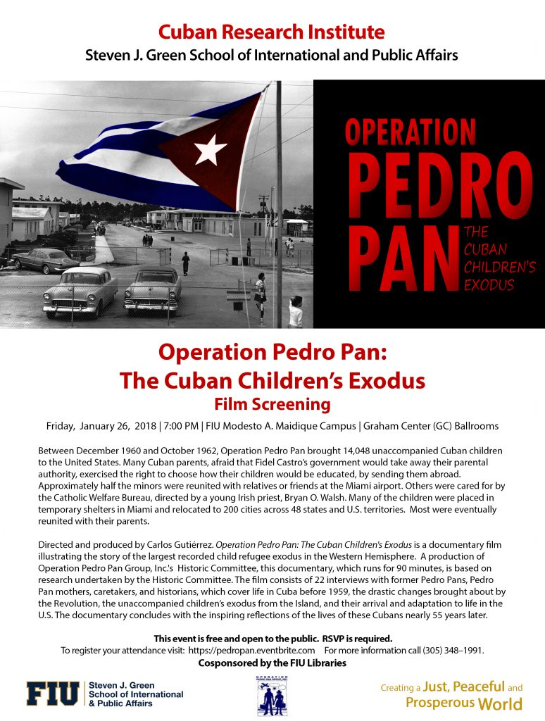 Pedro Pan Exodus film screening